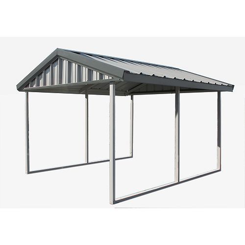 12 ft. x 20 ft. Carport with Enclosure Kit