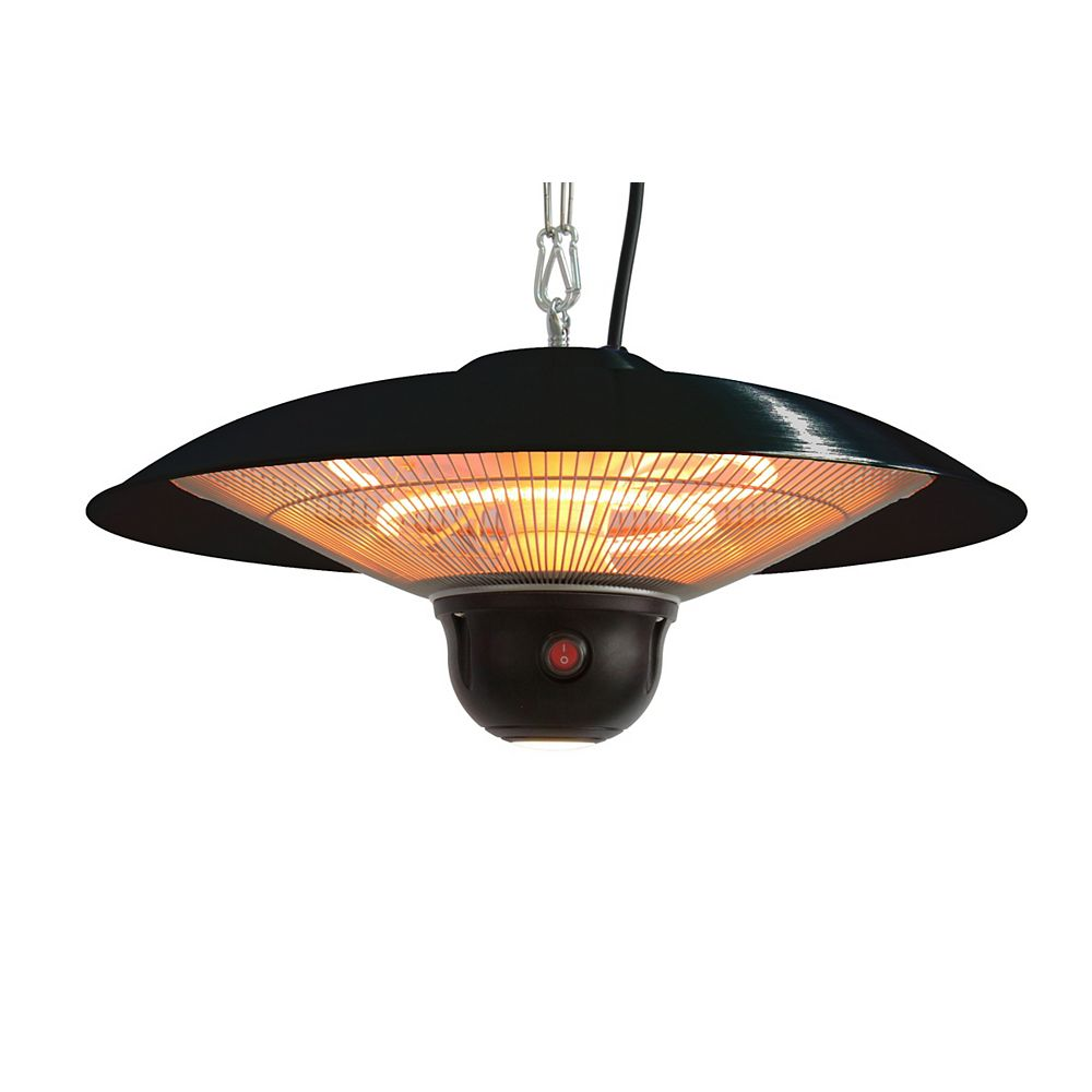 EnerG+ Hanging Infrared Electric Outdoor Heater with Remote and LED Light