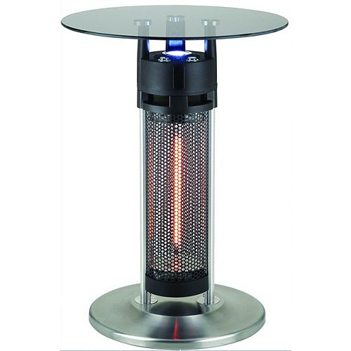 Infrared Electric Outdoor Heated Bistro Table with LED Light