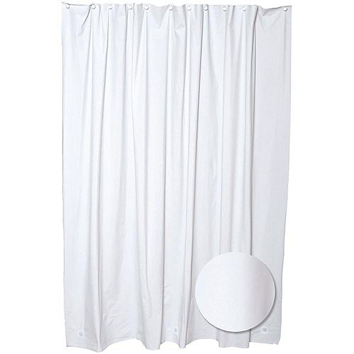 Glacier Bay 70  Inch  W x 71  Inch  H PEVA Shower Liner in White