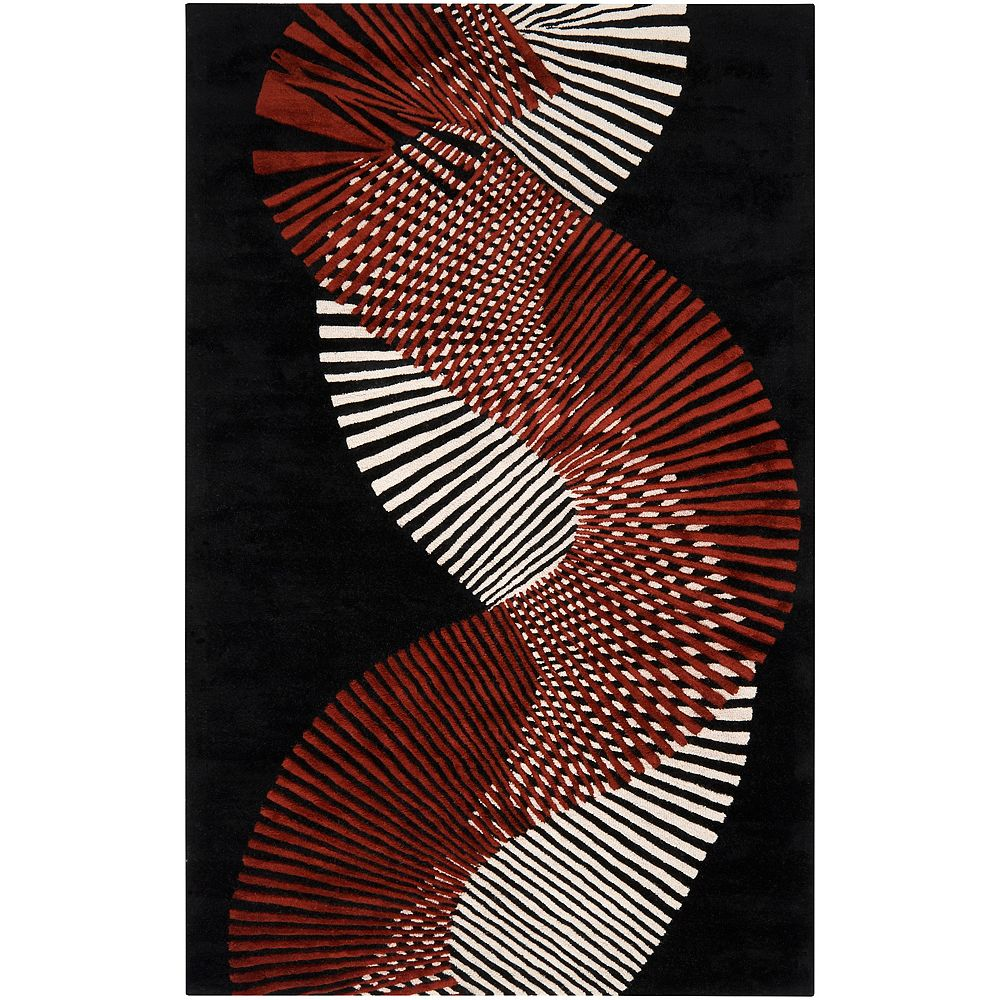 Artistic Weavers Carpette, 2 pi x 3 pi, rectangulaire, noir Caldera