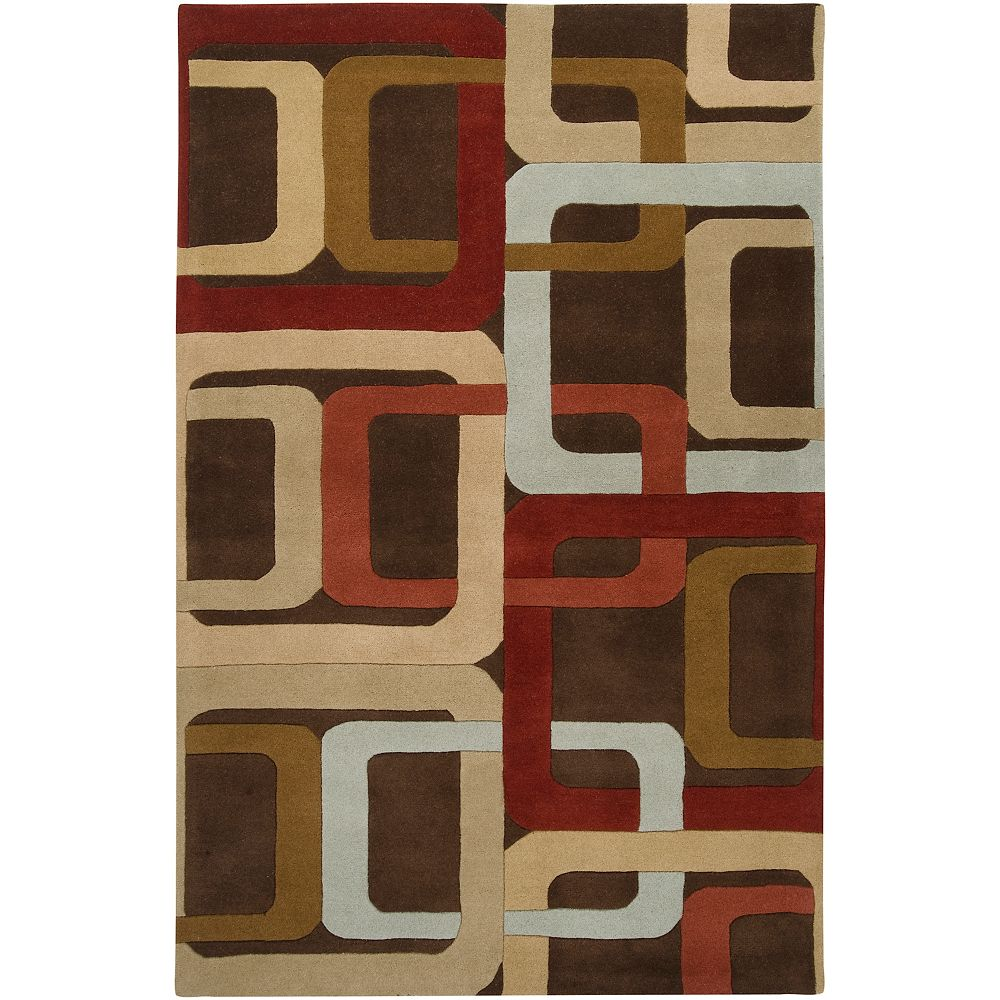 Artistic Weavers Osasco Brown 5 ft. x 8 ft. Indoor Contemporary Rectangular Area Rug