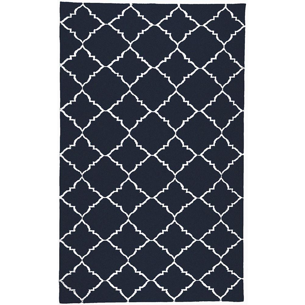 Artistic Weavers Carpette d'intérieur, 8 pi x 11 pi, style contemporain, rectangulaire, bleu Pelotas