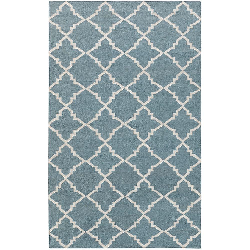 Artistic Weavers Carpette d'intérieur, 5 pi x 8 pi, à poils longs, style contemporain, rectangulaire, bleu Maringa