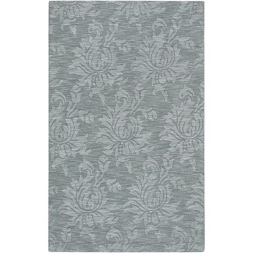 Carpette d'intérieur, 5 pi x 8 pi, à poils longs, style contemporain, rectangulaire, bleu Biruca
