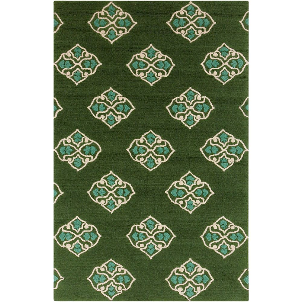 Artistic Weavers Talamo Green 5 ft. x 7 ft. 6-inch Rectangular Area Rug