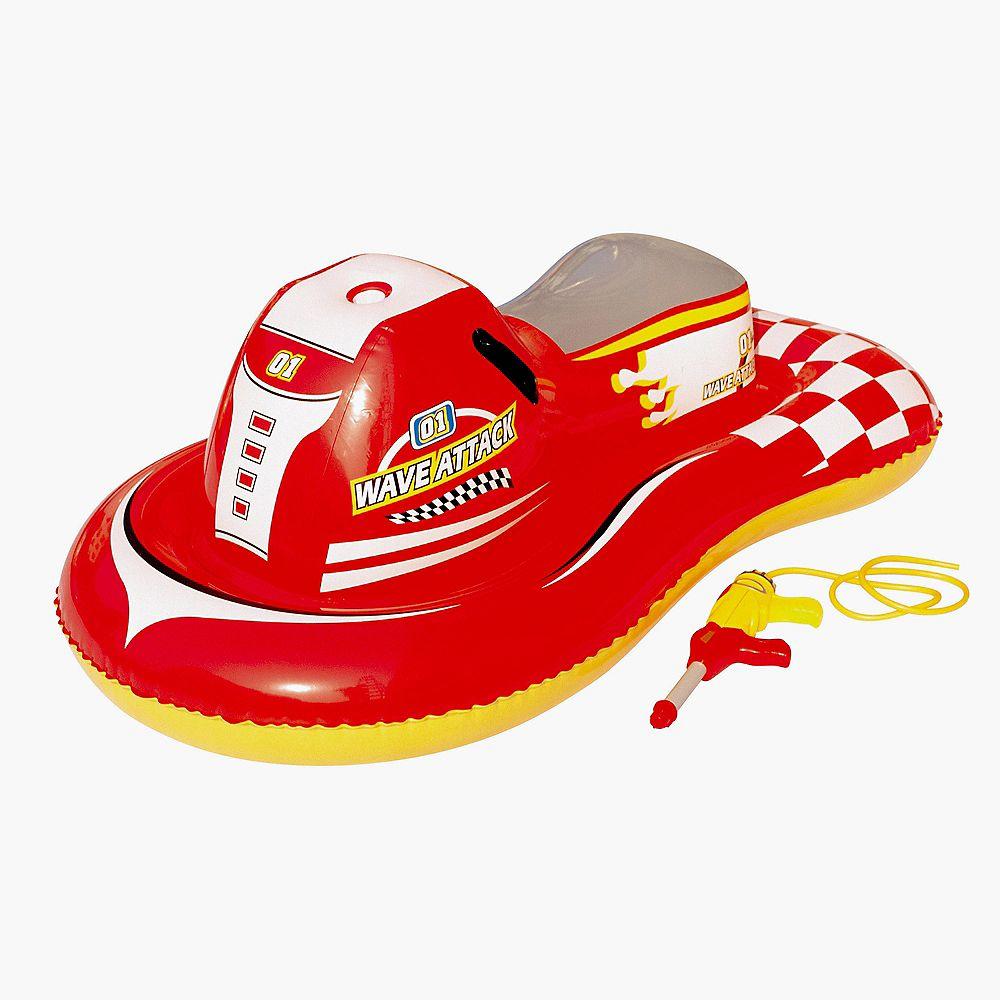 Splash & Play Motomarine gonflable Wave Attack à chevaucher, 140 cm
