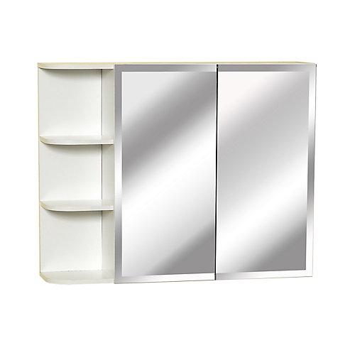31 pouces Bi - vue armoire à pharmacie avec la tablette latérale