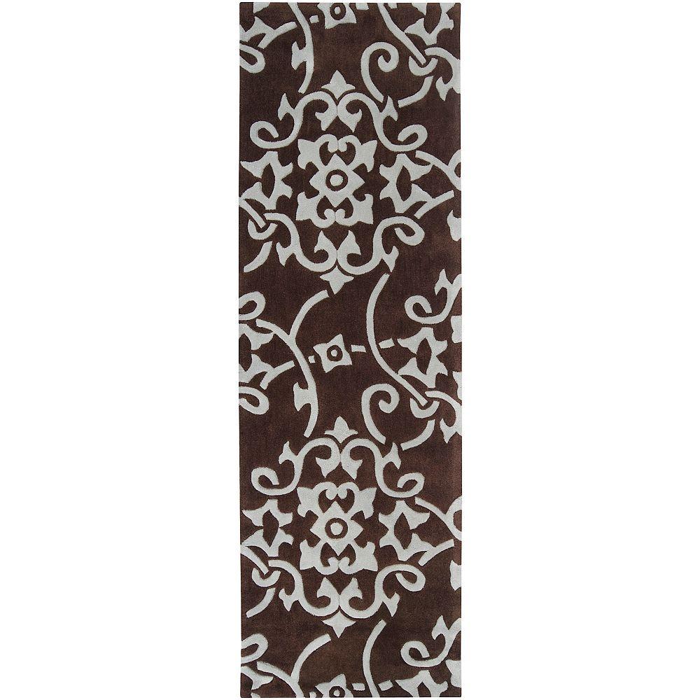 Artistic Weavers Tapis de passage d'intérieur, 2 pi 6 po x 8 pi, style transitionnel, brun Labranza