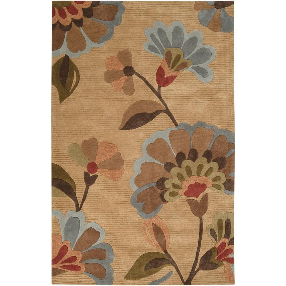 Artistic Weavers Carpette, 2 pi x 3 pi, rectangulaire, havane Victoria