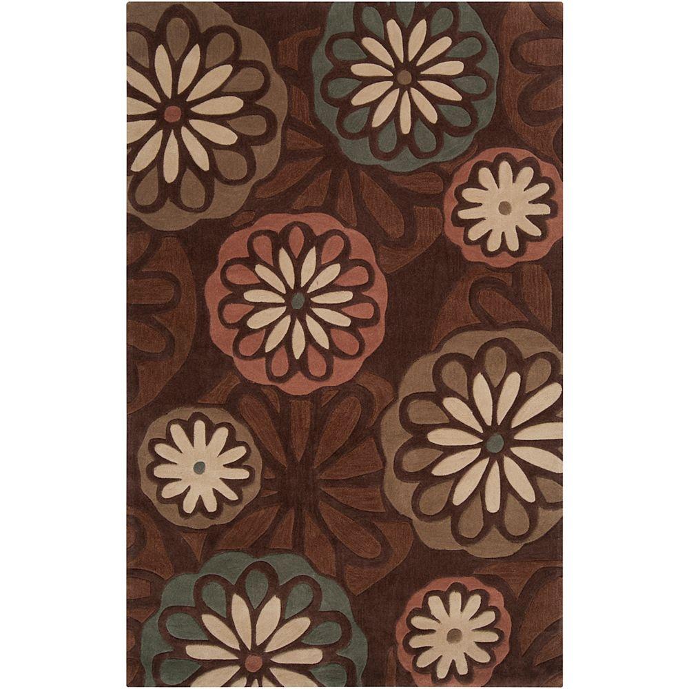 Artistic Weavers Carpette, 8 pi x 11 pi, rectangulaire, brun Calbuco