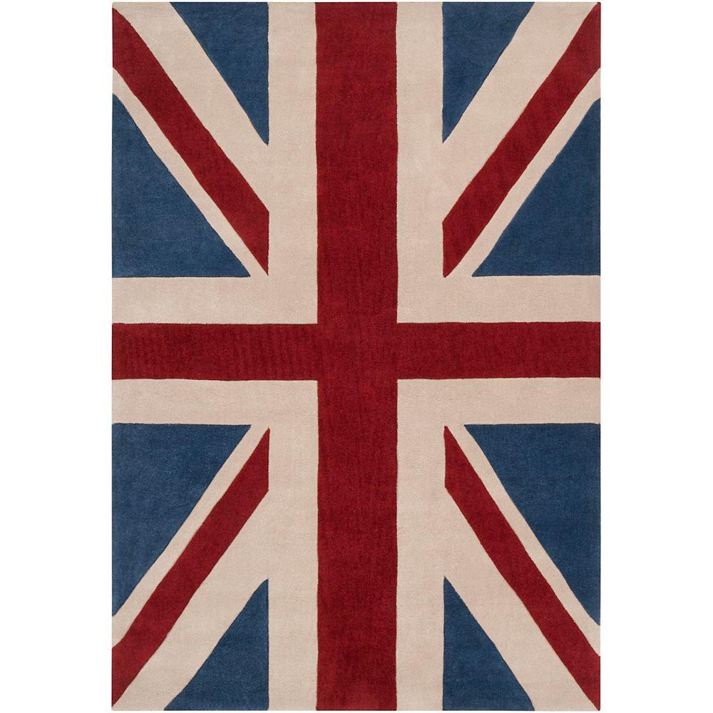 Artistic Weavers Carpette d'intérieur, 2 pi x 3 pi, style transitionnel, rectangulaire, rouge Frutillar Union Jack