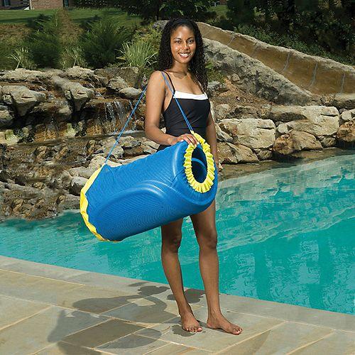 Sac pratique pour matériel de piscine - Bleu
