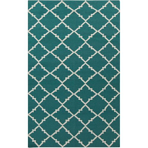 Artistic Weavers Campina Blue 5 ft. x 8 ft. Indoor Contemporary Rectangular Area Rug