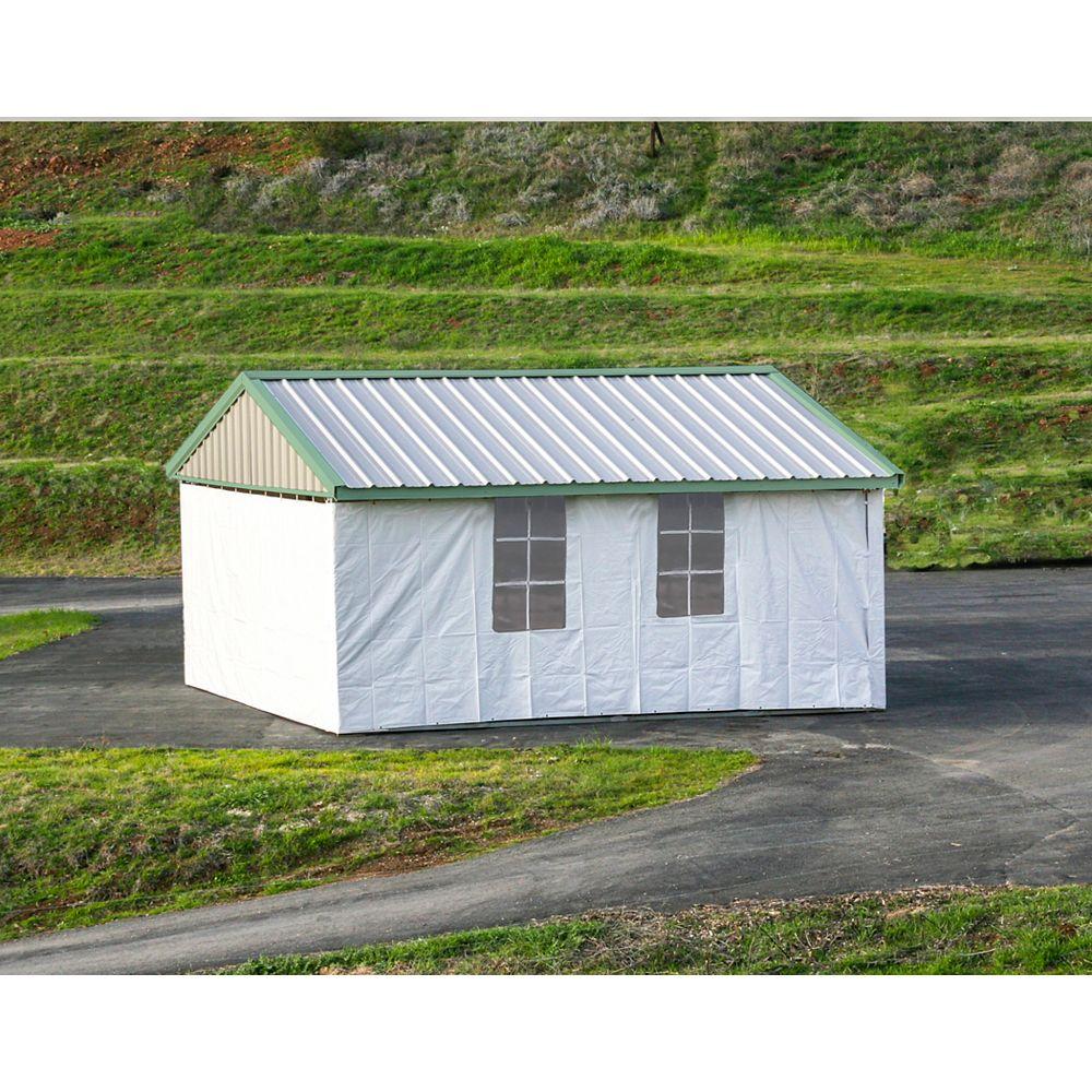 Premium Canopy Premium 20 ft. x 24 ft. Canopy/Carport with Enclosure Kit