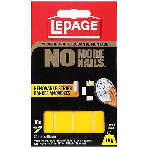 LePage LePage No More Nails Removable Mounting Tape Strips
