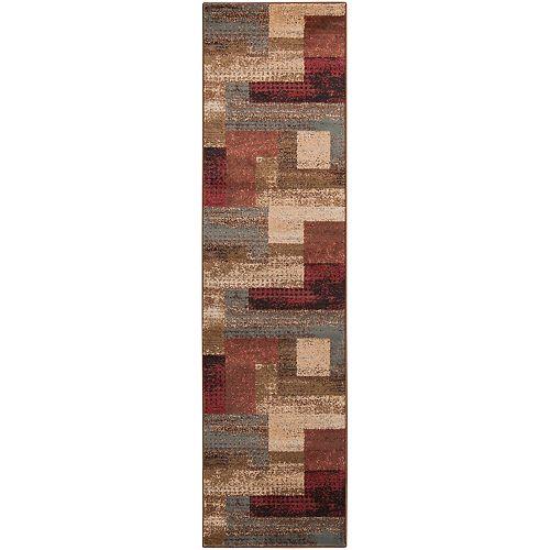 Tapis de passage d'intérieur, 2 pi x 7 pi 5 po, style transitionnel, brun Cornelia