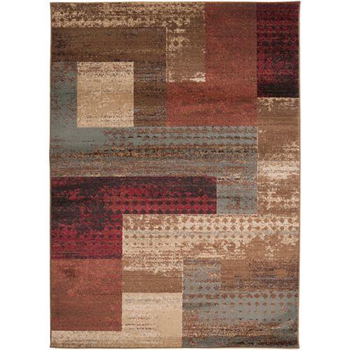 Carpette d'intérieur, 5 pi 3 po x 73 pi 6 po, style transitionnel, rectangulaire, brun Cornelia