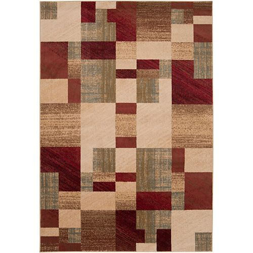 Cottica Brown 5 ft. 3-inch x 7 ft. 6-inch Indoor Transitional Rectangular Area Rug