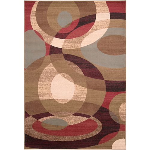 Gronike Brown 5 ft. 3-inch x 7 ft. 6-inch Indoor Transitional Rectangular Area Rug