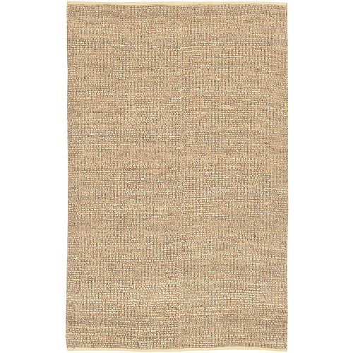 Carpette d'intérieur, 8 pi x 11 pi, tissage texturé, rectangulaire, havane Cerrillos