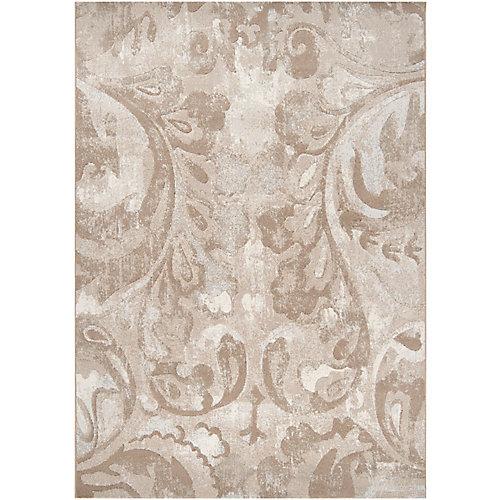 Carpette d'intérieur, 5 pi 3 po x 73 pi 6 po, style contemporain, rectangulaire, havane Tiltil