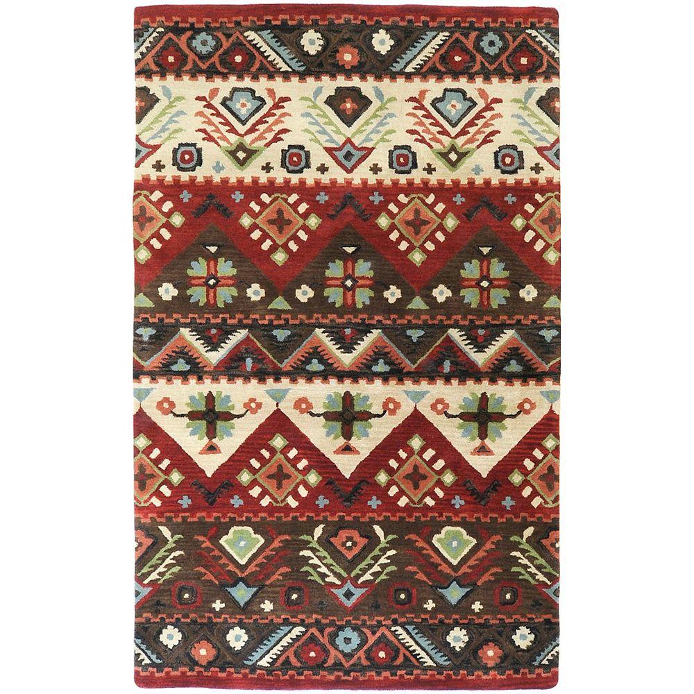 Artistic Weavers Carpette d'intérieur, 2 pi x 3 pi, style contemporain, rectangulaire, rouge Yala
