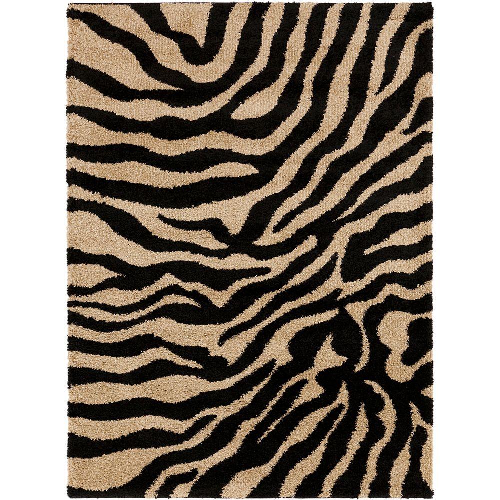 Artistic Weavers Carpette d'intérieur/extérieur, 2 pi x 3 pi, style contemporain, rectangulaire, noir Lima