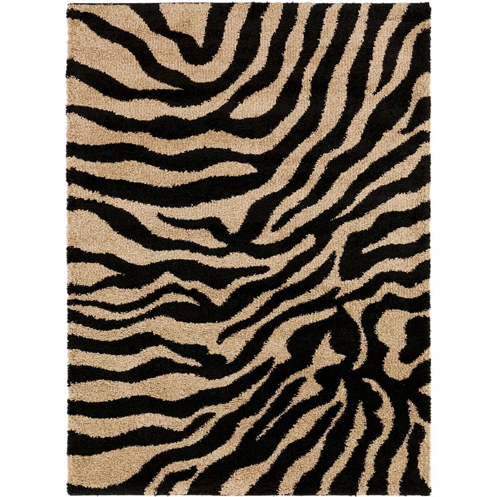 Artistic Weavers Lima Black 7 ft. 10-inch x 9 ft. 10-inch Indoor/Outdoor Contemporary Rectangular Area Rug