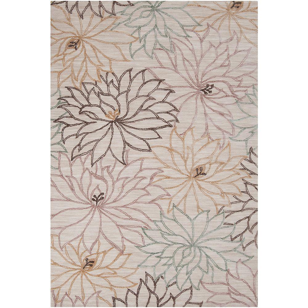 Artistic Weavers Carpette, 8 pi x 11 pi, rectangulaire, blanc cassé Cusco