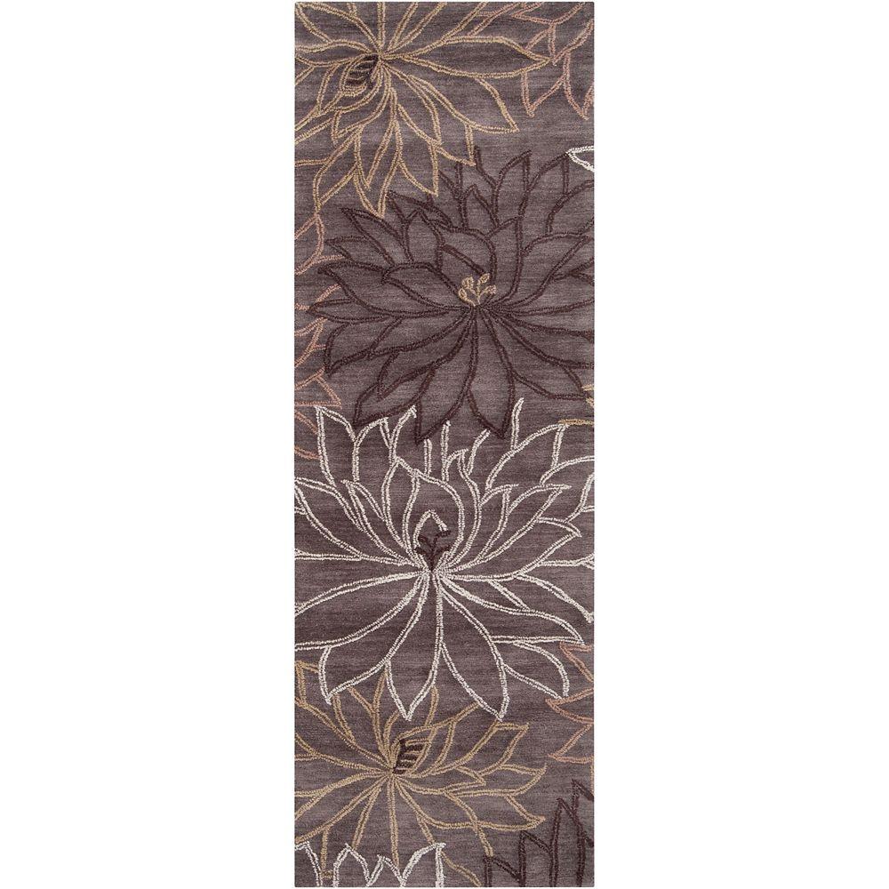 Artistic Weavers Tapis de passage, 2 pi 6 po x 7 pi 6 po, gris Tacna