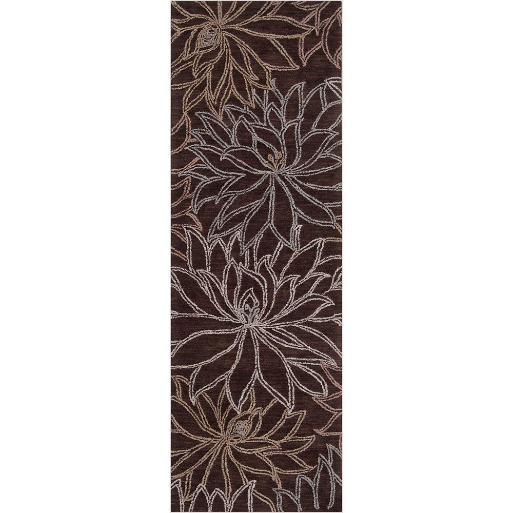 Artistic Weavers Tapis de passage, 2 pi 6 po x 7 pi 6 po, brun Sullana