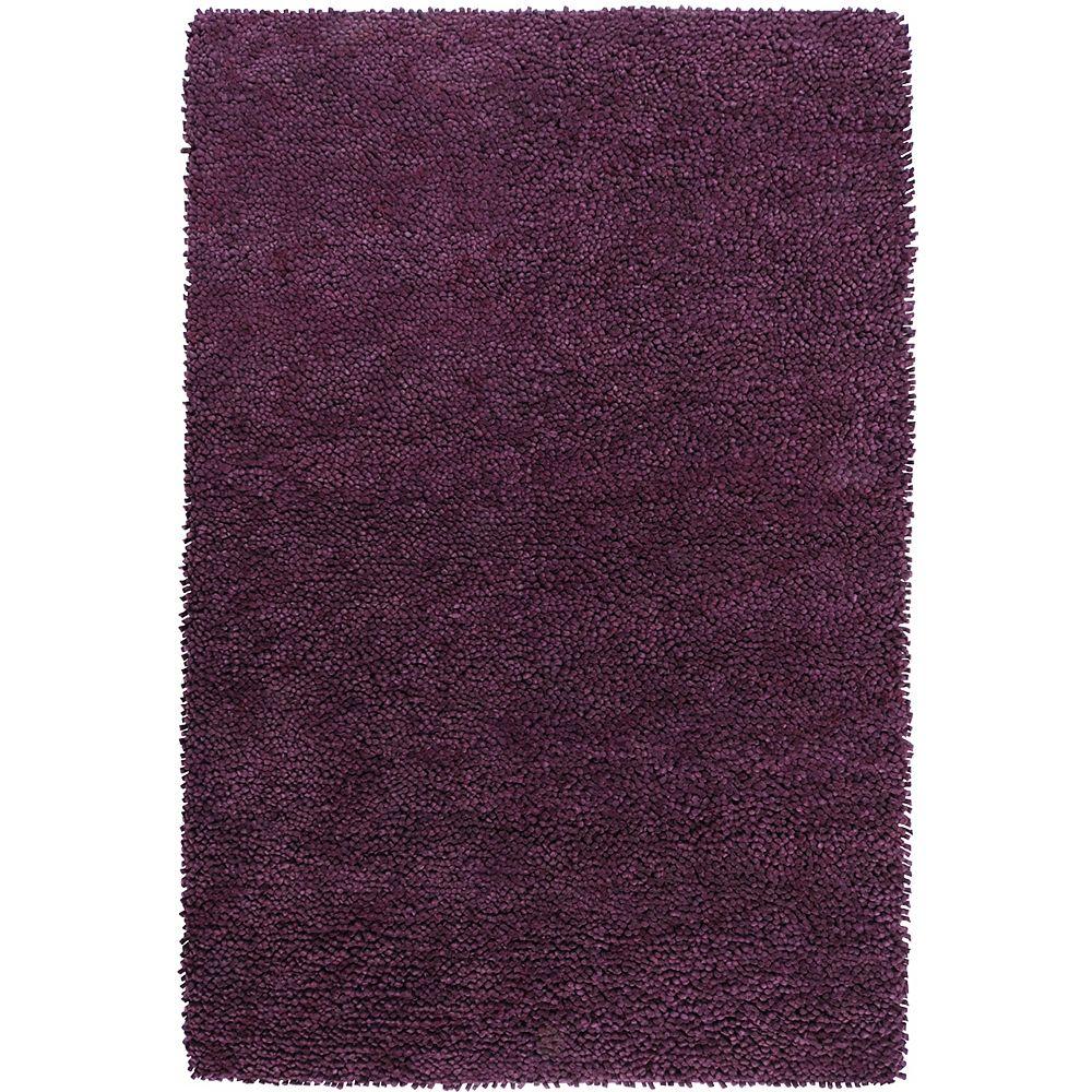 Artistic Weavers Carpette d'intérieur, 5 pi x 8 pi, à poils longs, rectangulaire, violet Pisco