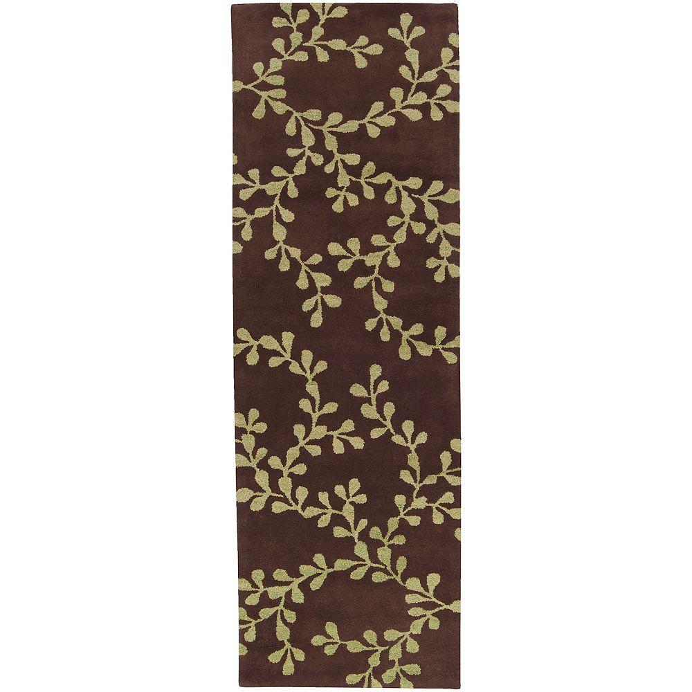 Artistic Weavers Carpette, 8 pi x 11 pi, rectangulaire, brun Mala