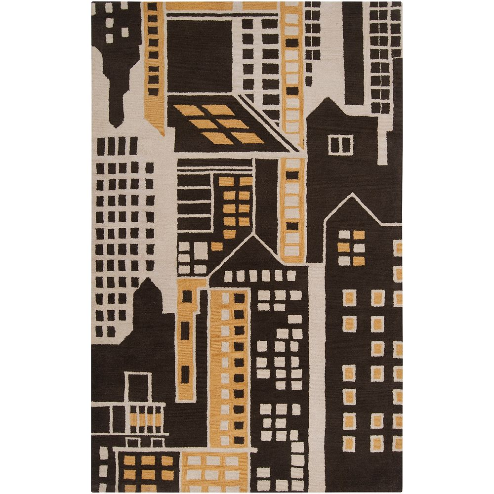 Artistic Weavers Carpette, 2 pi x 3 pi, rectangulaire, brun Morra