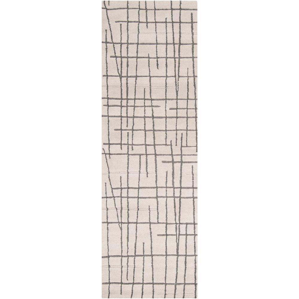 Artistic Weavers Tapis de passage d'intérieur, 2 pi 6 po x 8 pi, style contemporain, gris Pascua