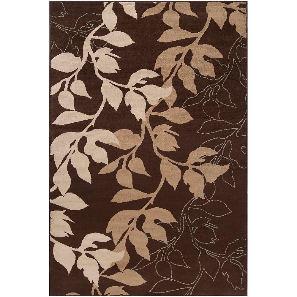Artistic Weavers Carpette, 5 pi 3 po x 73 pi 6 po, rectangulaire, brun Ocumare