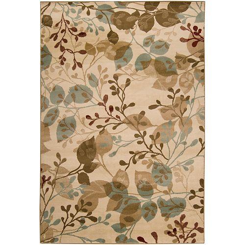 Carpette d'intérieur, 7 pi 6 po x 11 pi 2 po, style transitionnel, rectangulaire, havane Pampatar
