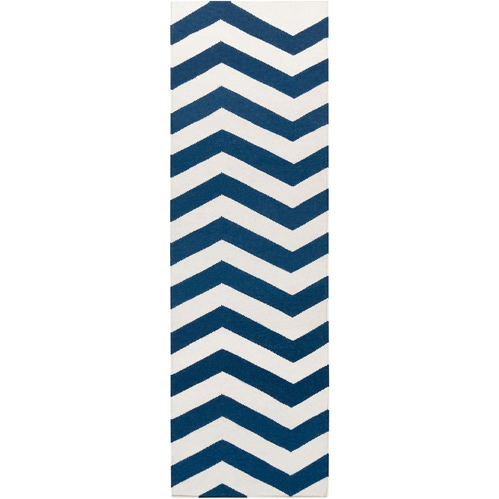 Artistic Weavers Tapis de passage d'intérieur, 2 pi 6 po x 8 pi, style contemporain, bleu Vicena