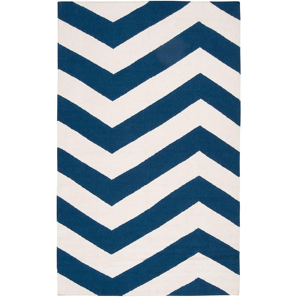 Artistic Weavers Carpette d'intérieur, 8 pi x 11 pi, style contemporain, rectangulaire, bleu Vicena