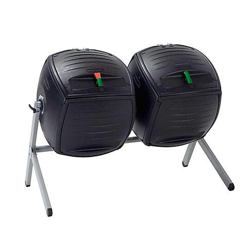 Tonneau de compostage double