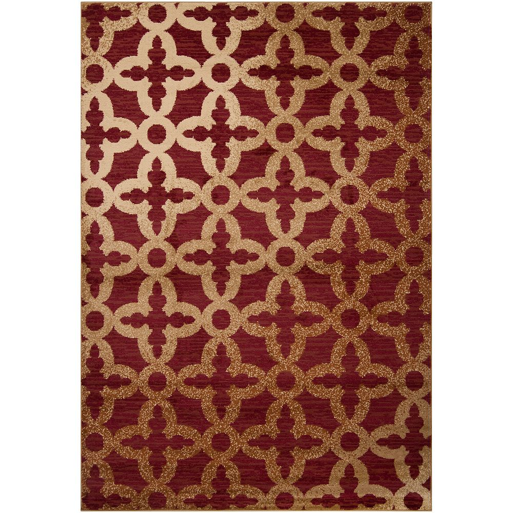 Artistic Weavers Carpette, 7 pi 6 po x 10 pi 8 po, rectangulaire, rouge Itabora