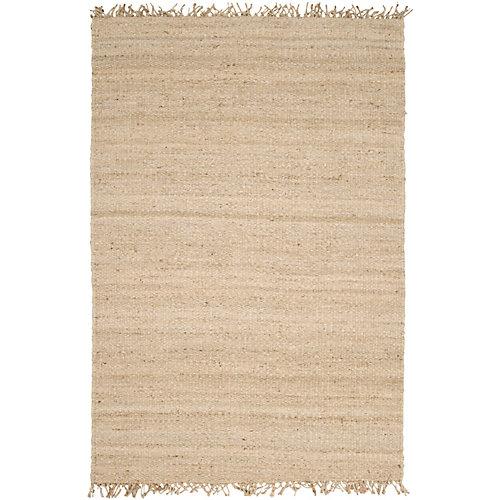 Carpette d'intérieur, 8 pi x 10 pi 6 po, tissage texturé, rectangulaire, havane Goana