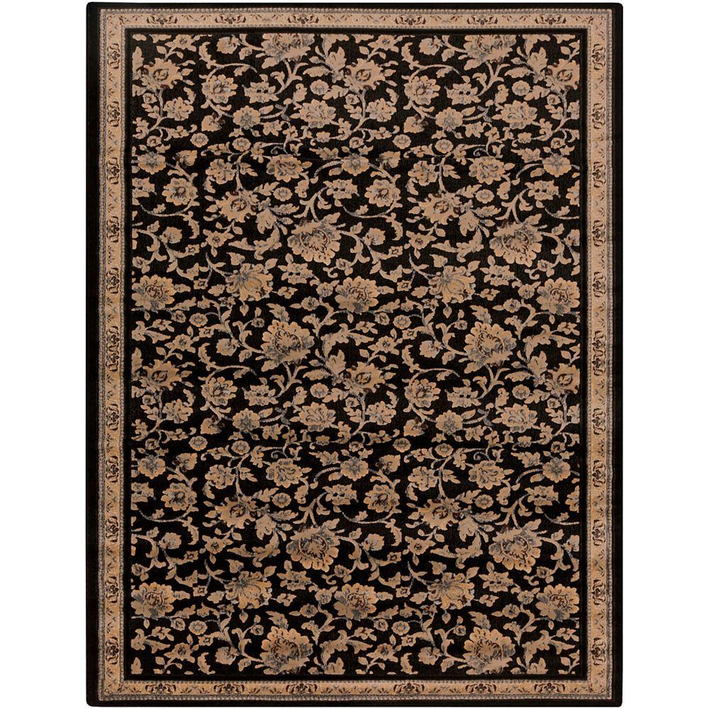 Artistic Weavers Carpette, 1 pi 9 po x 3 pi, rectangulaire, noir Ayacha