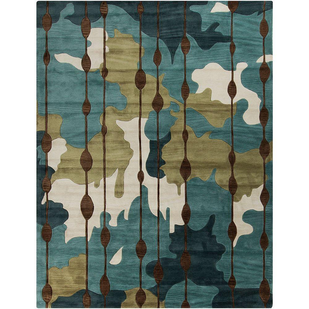 Artistic Weavers Clarines Blue 8 ft. x 10 ft. 6-inch Indoor Contemporary Rectangular Area Rug