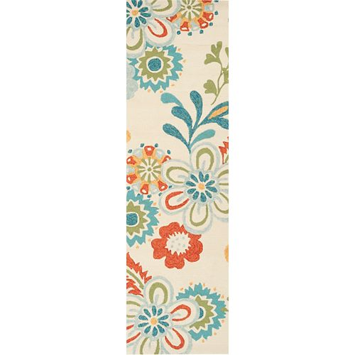 Capucci Multi-Colour 2 ft. 6-inch x 8 ft. Indoor/Outdoor Transitional Runner