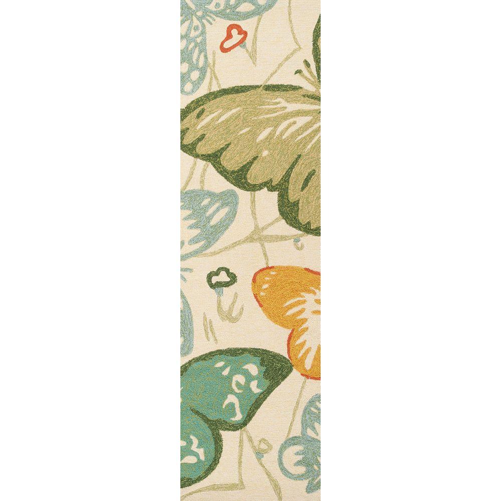 Artistic Weavers Tapis de passage d'intérieur/extérieur, 2 pi 6 po x 8 pi, style transitionnel, vert Durazo