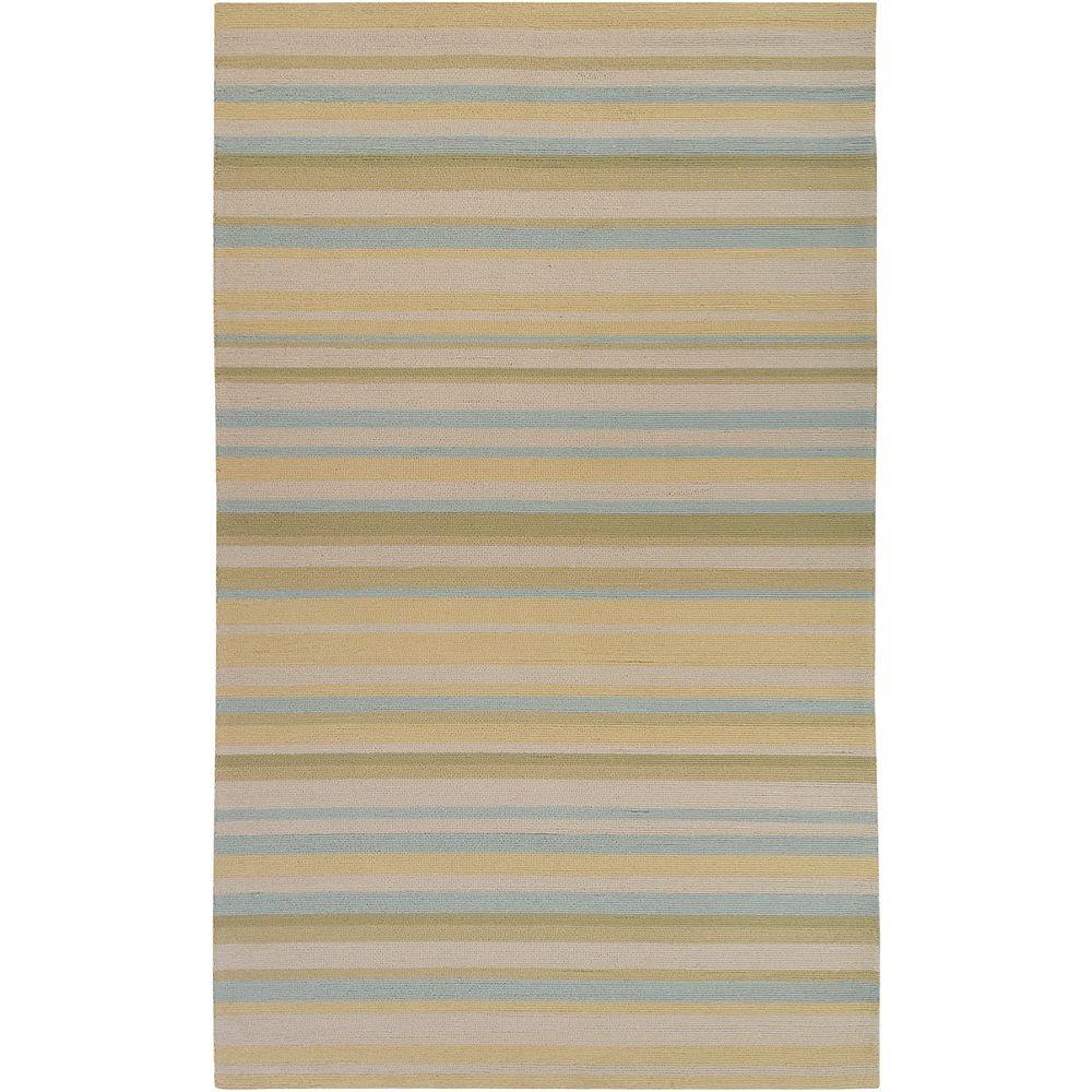 Artistic Weavers Tapis de passage d'intérieur/extérieur, 8 pi x 10 pi, style transitionnel, rectangulaire, jaune Portojevo