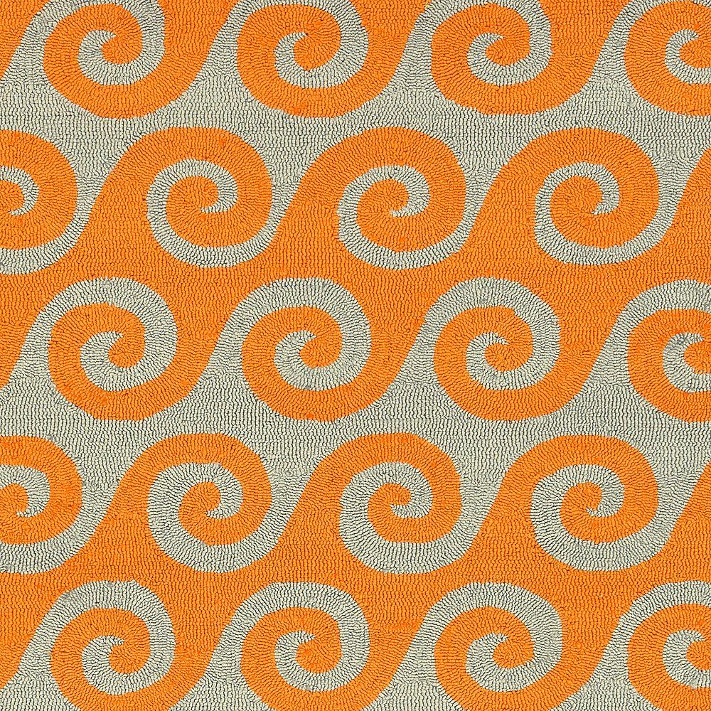 Artistic Weavers Carpette d'intérieur/extérieur, 2 pi x 3 pi, style transitionnel, rectangulaire, orange Abenaston