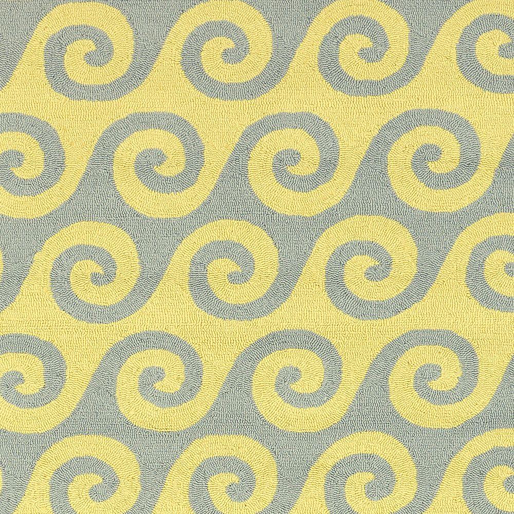 Artistic Weavers Carpette, 8 pi x 11 pi, rectangulaire, jaune Apetina